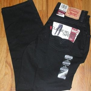 NEW LEVIS Classic Relax Tapered Black Jeans